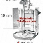 Mesin Kebab Kapasitas 7 kg (model WG-818)