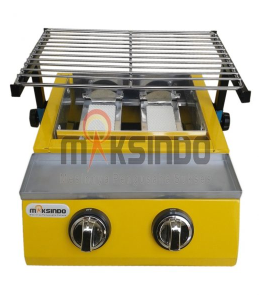 Mesin Pemanggang Sate - BBQ 2 Tungku (Gas) 1 tokomesin blitar