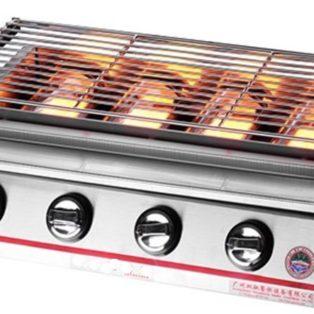Jual Pemanggang BBQ Stainless (gas) 4 Tungku di Blitar