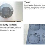 Jual Mesin Cetak Kue/Waffle Bentuk Hello Kity (Kitty1) di Blitar