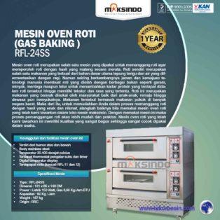 Jual Mesin Oven Roti Gas 4 Loyang (MKS-RS24) di Blitar
