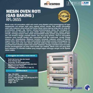 Jual Mesin Oven Roti Gas 6 Loyang (MKS-RS36) di Blitar