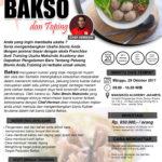 Training Usaha Aneka Bakso dan Toping, 29 Oktober 2017