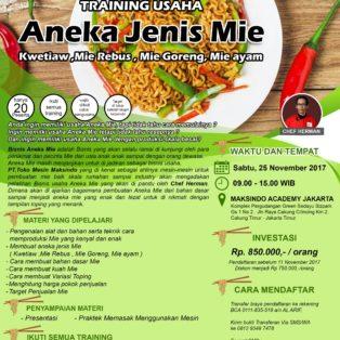 Training Usaha Aneka Jenis Mie, 25 November 2017