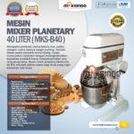 Jual Mesin Mixer Planetary 40 Liter (MKS-40B) di Blitar