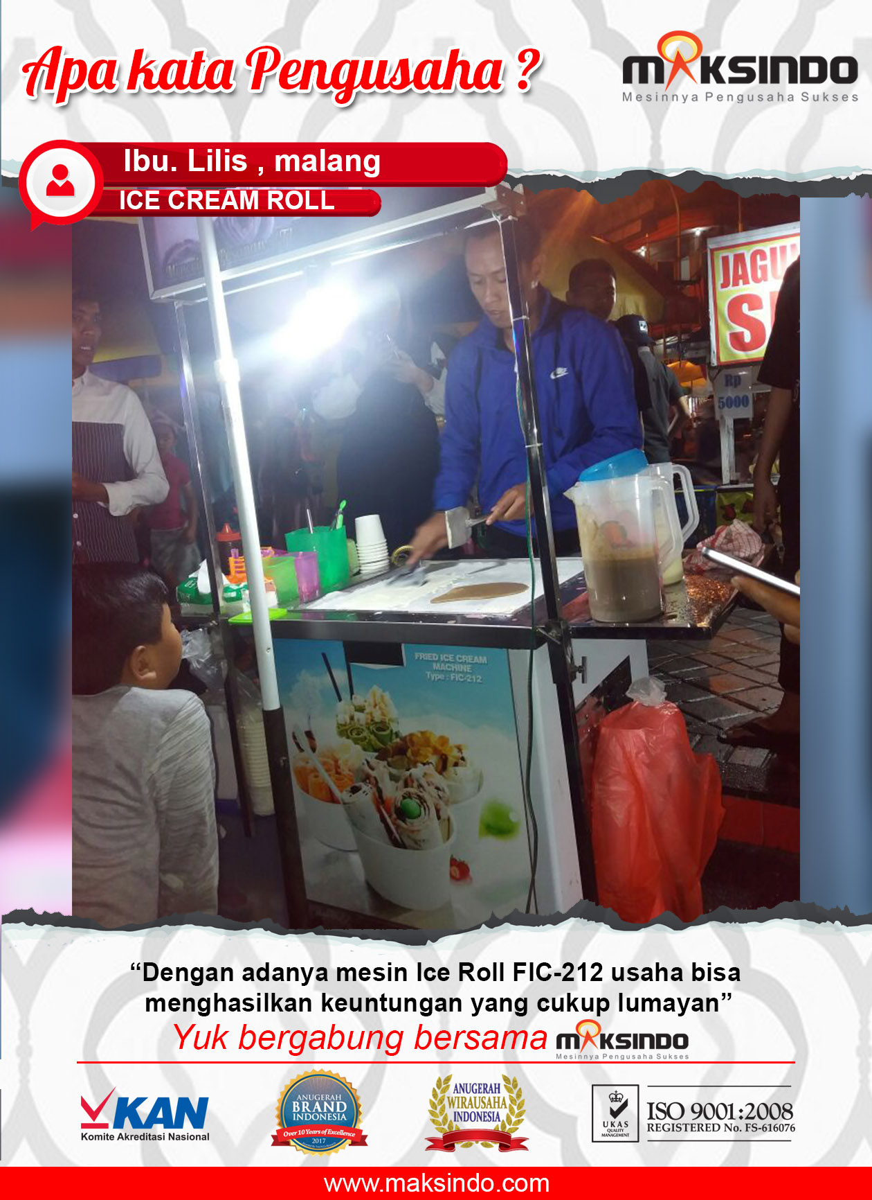 Ice Cream Roll : Mesin Ice Cream Roll Mendatangkan Keuntungan