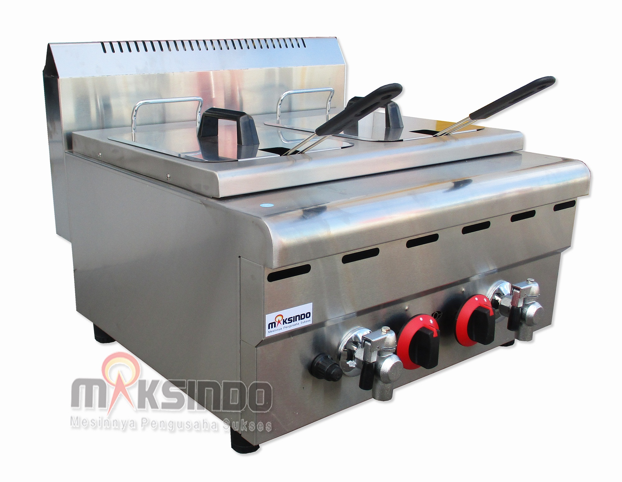Jual Counter Top 2-Tank 2-Basket Gas Fryer di Blitar