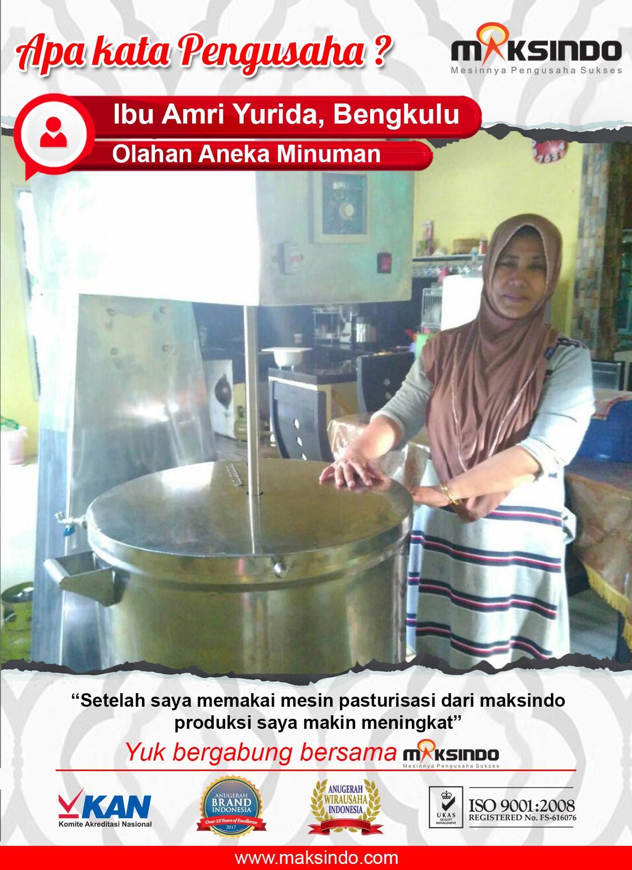 Olahan Aneka Minuman :  Produksi Makin Meningkat Dengan Pasteurisasi Maksindo