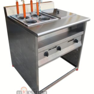 Gas Pasta Cooker With Bain Marie (4 Baskets) MKS-PCBM4