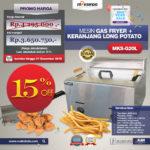 Jual Mesin Gas Fryer dan Keranjang MKS-G20L di Blitar