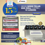 Jual Mesin Pembuat Egg Roll (Listrik) di Blitar