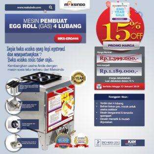 Mesin Pembuat Egg Roll (Gas) 4 Lubang MKS-ERG444