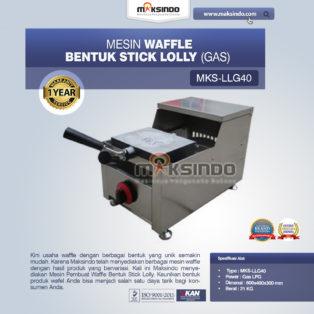 Jual Mesin Waffle Bentuk Stick Lolly (Gas) MKS-LLG40 di Blitar