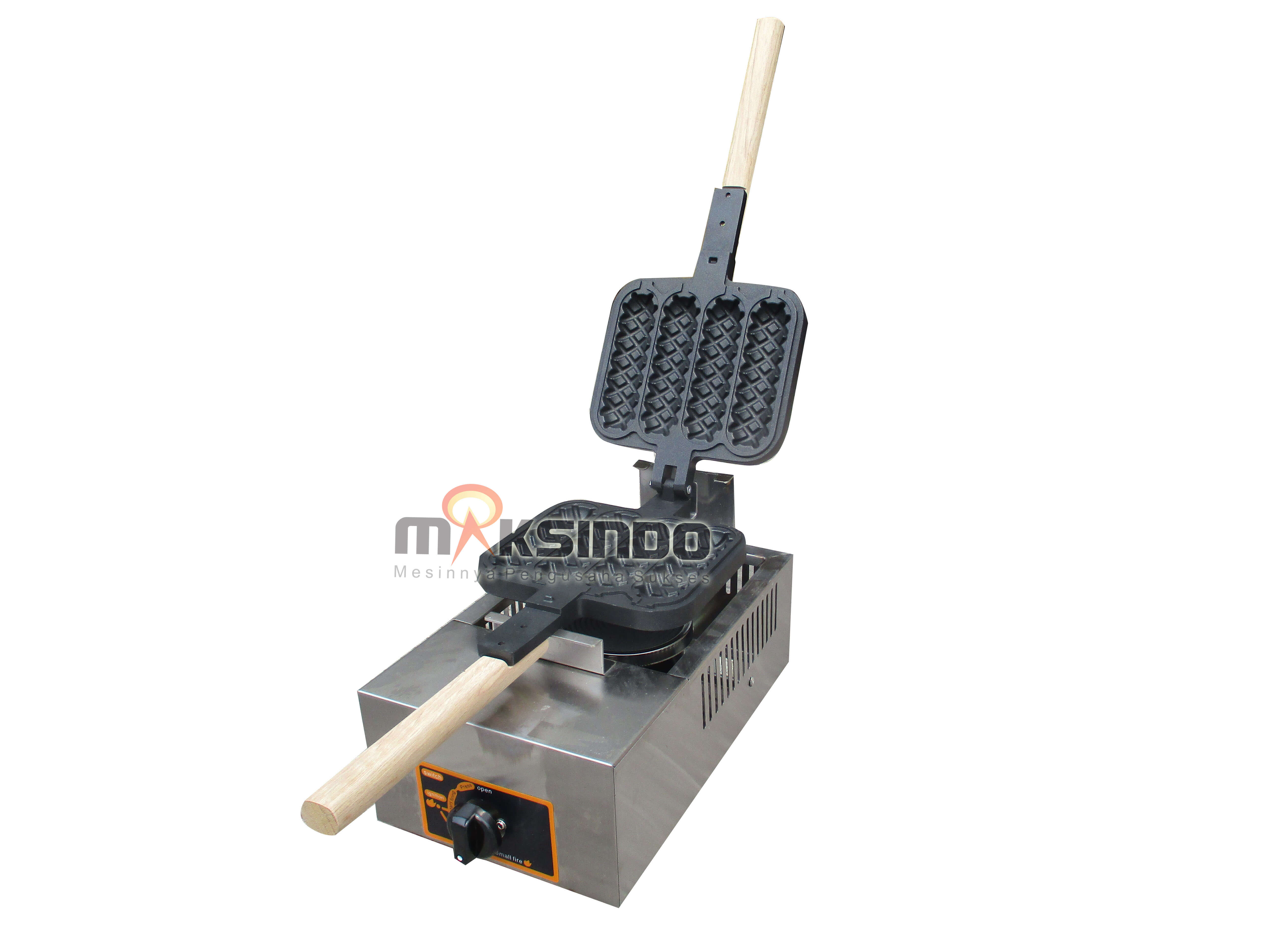 Mesin Waffle Bentuk Jagung (Gas Waffle Corn Maker) MKS-CRN4