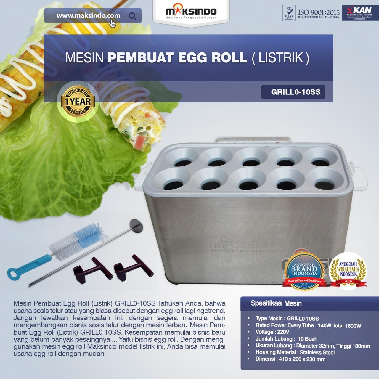 Jual Mesin Pembuat Egg Roll (Listrik) GRILLO-10SS di Blitar