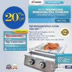 Jual Pemanggang Serbaguna – Gas BBQ Grill 2 Tungku Full Stainless di Blitar