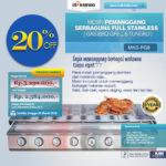 Jual Pemanggang Serbaguna – Gas BBQ Grill 8 Tungku di Blitar