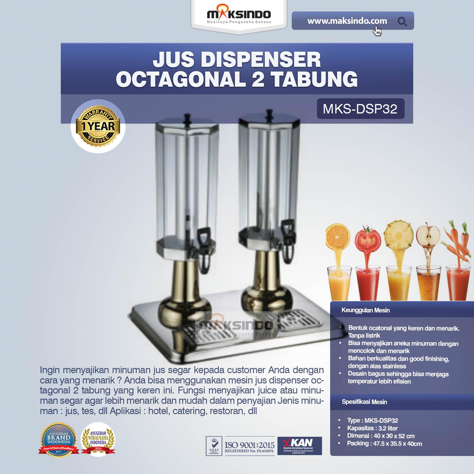 Jual Jus Dispenser Octagonal 2 Tabung (DSP32) di Blitar