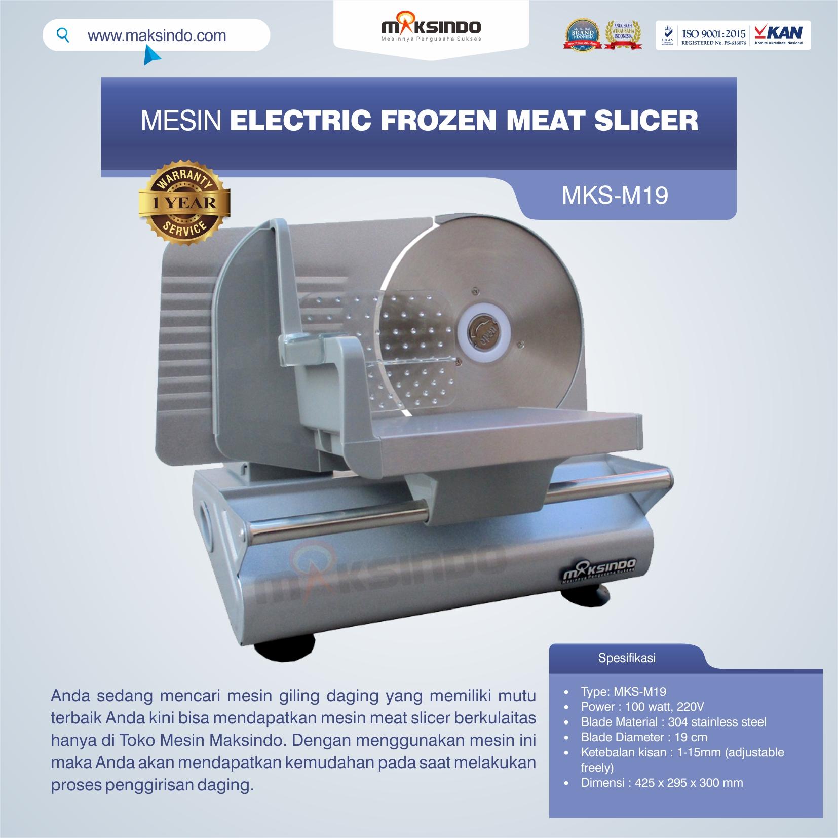 Jual Mesin Electric Frozen Meat Slicer MKS-M19 di Blitar
