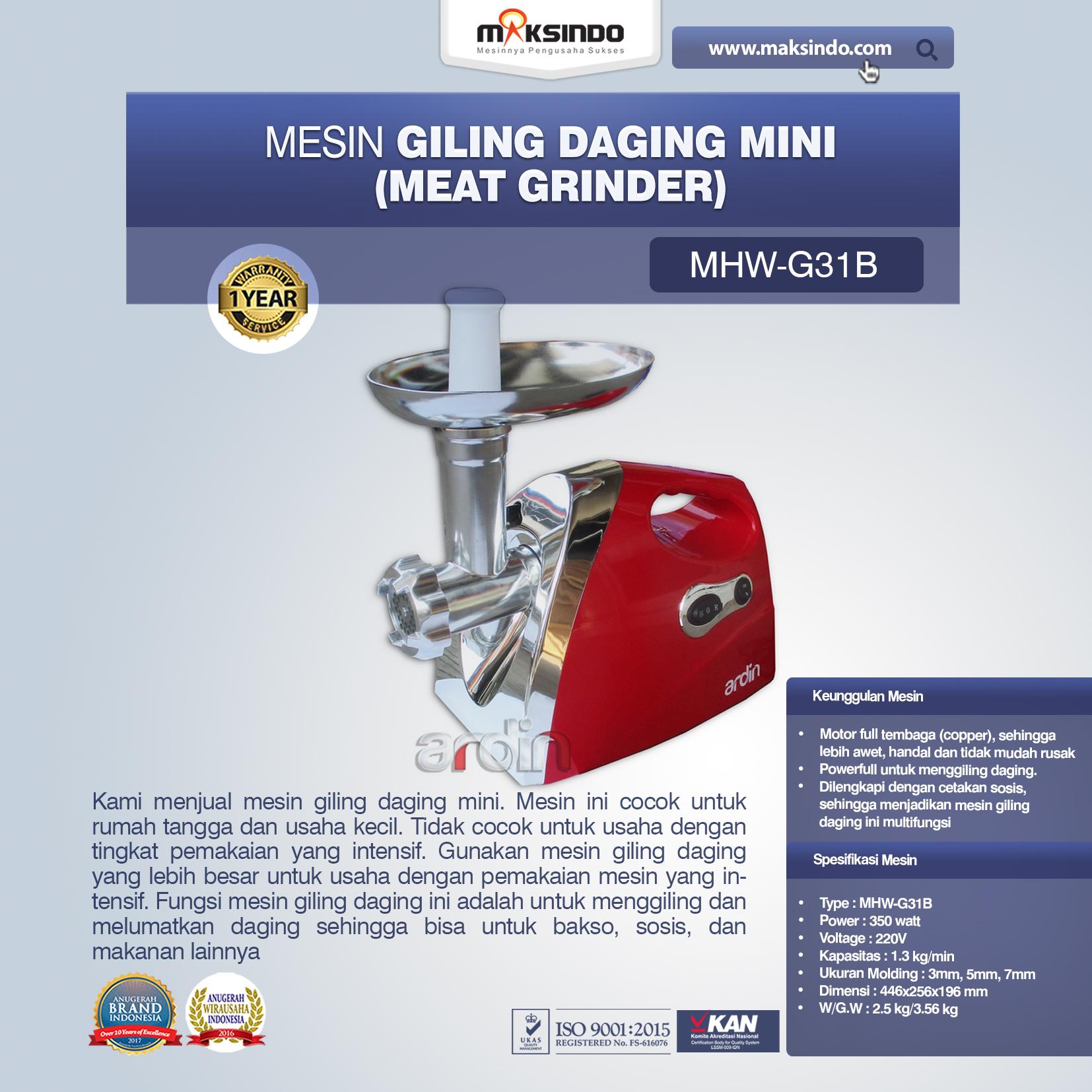 Jual Mesin Giling Daging Mini (Rumah Tangga) – Ardin di Blitar