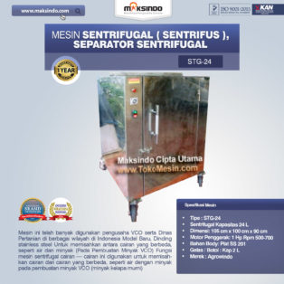 Jual Mesin Sentrifugal (Sentrifus), Separator Sentrifugal Di Blitar