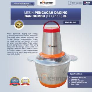 Jual Mesin Pencacah Daging dan Bumbu MKS-BLD3L di Blitar