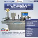 Jual Mesin Cup Sealer Otomatis 2 line dan 4 line di Blitar
