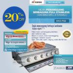Jual Pemanggang Serbaguna – Gas BBQ Grill 6 Tungku di Blitar
