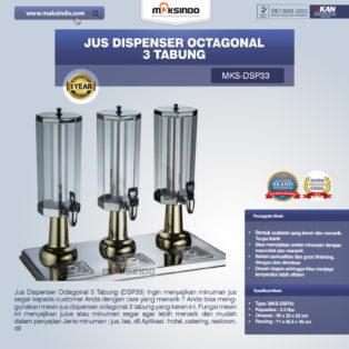 Jual Jus Dispenser Octagonal 3 Tabung  (DSP33) di Blitar