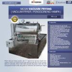 Jual Mesin Vacuum Frying Kapasitas 1.5 kg di Blitar