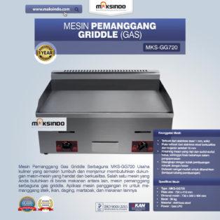 Jual Mesin Pemanggang Griddle (Gas) MKS-GG720 di Blitar