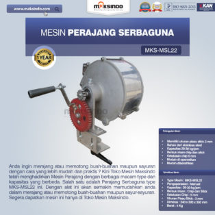 Jual Perajang Serbaguna MKS-MSL22 di Blitar