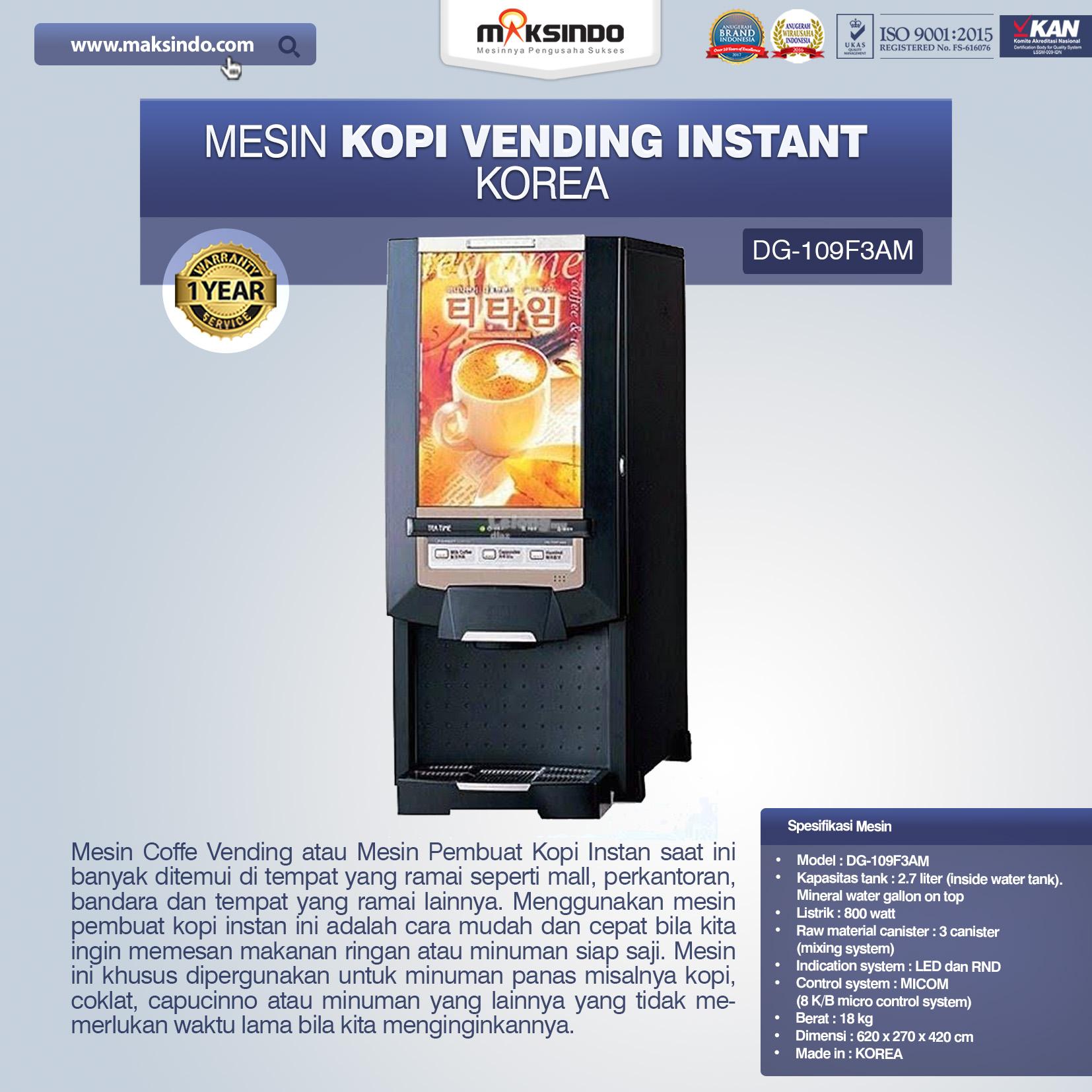 Jual Mesin Kopi Instant (Auto Coffee Instant Machine) di Blitar