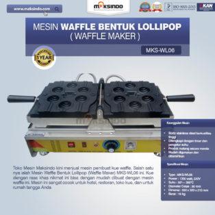 Jual Mesin Waffle Bentuk Lollipop (Waffle Maker) MKS-WL06 di Blitar
