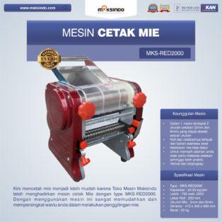 Jual Mesin Cetak Mie MKS-RED2000 di Blitar