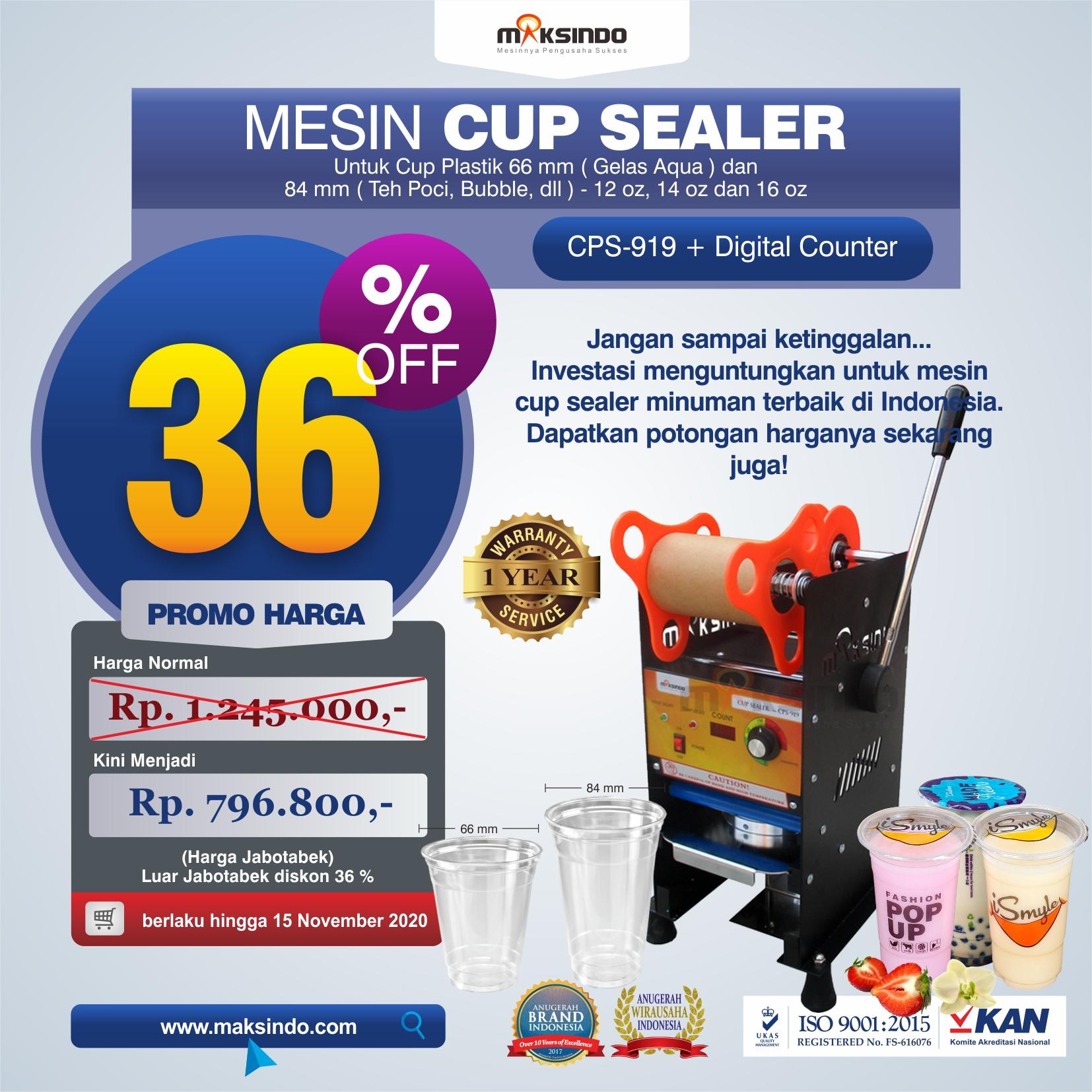 Jual Mesin Cup Sealer Manual CPS-919 di Blitar