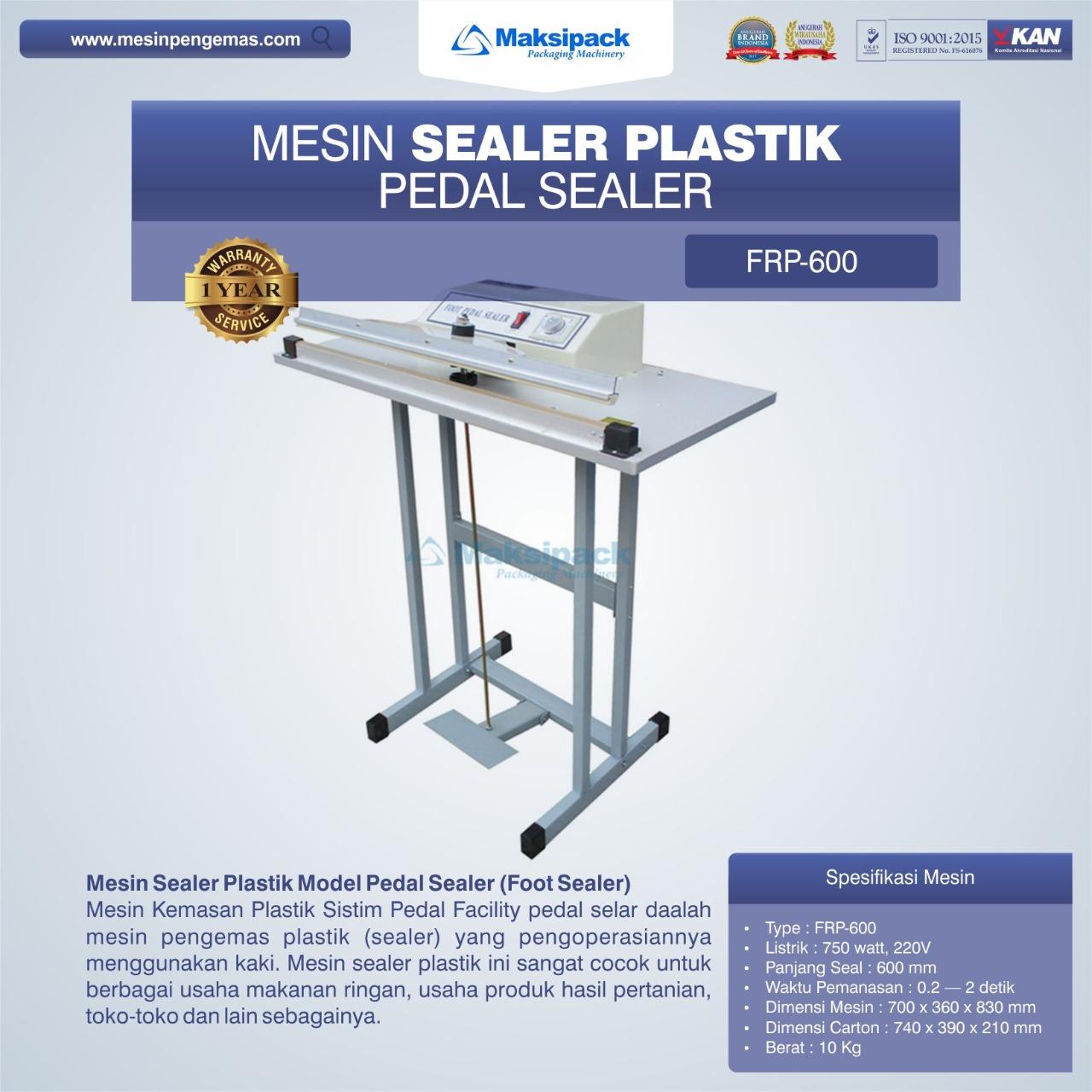 Jual Mesin Sealer Plastik Pedal Sealer FRP-600 di Blitar