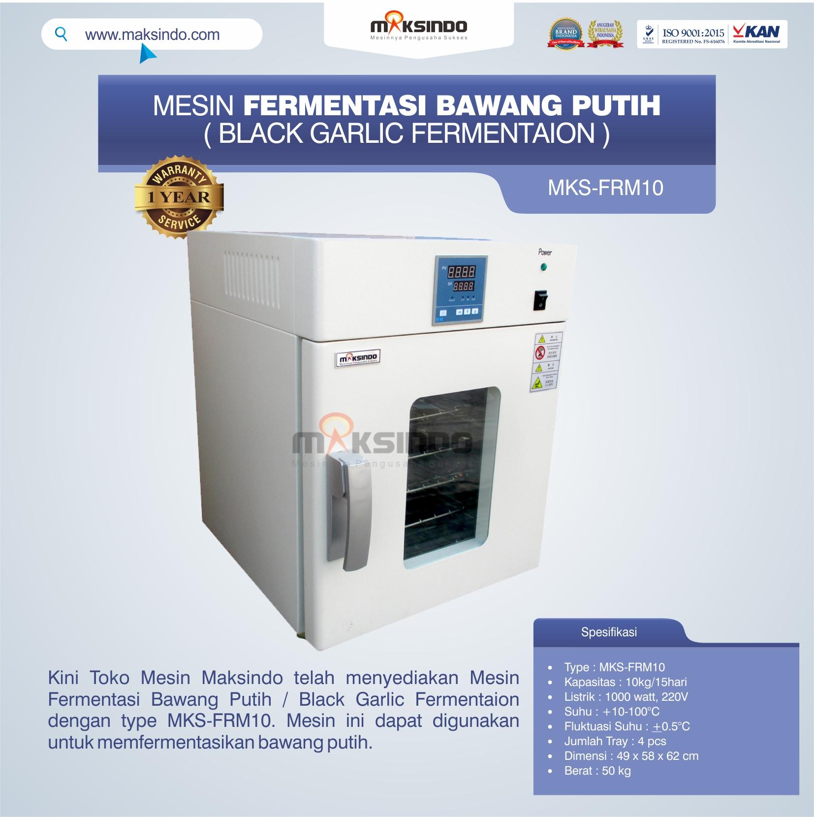 Jual Mesin Fermentasi Bawang Putih / Black Garlic Fermentaion MKS-FRM10 di Blitar