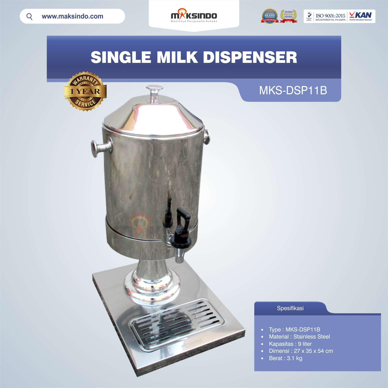 Jual Single Milk Dispenser MKS-DSP11B di Blitar