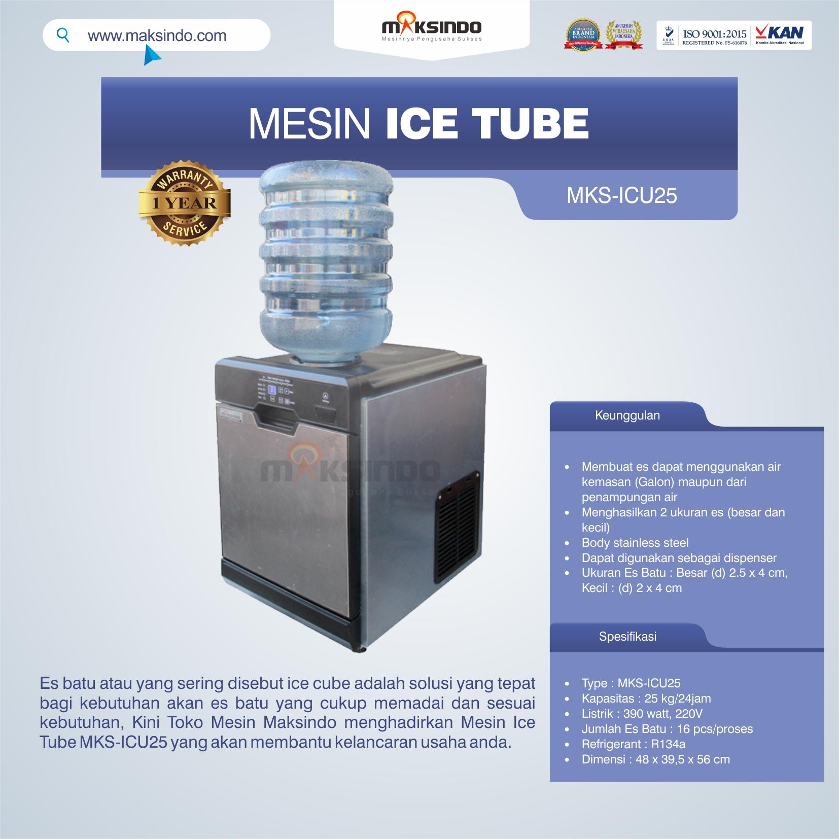 Jual Mesin Ice Tube MKS-ICU25 di Blitar