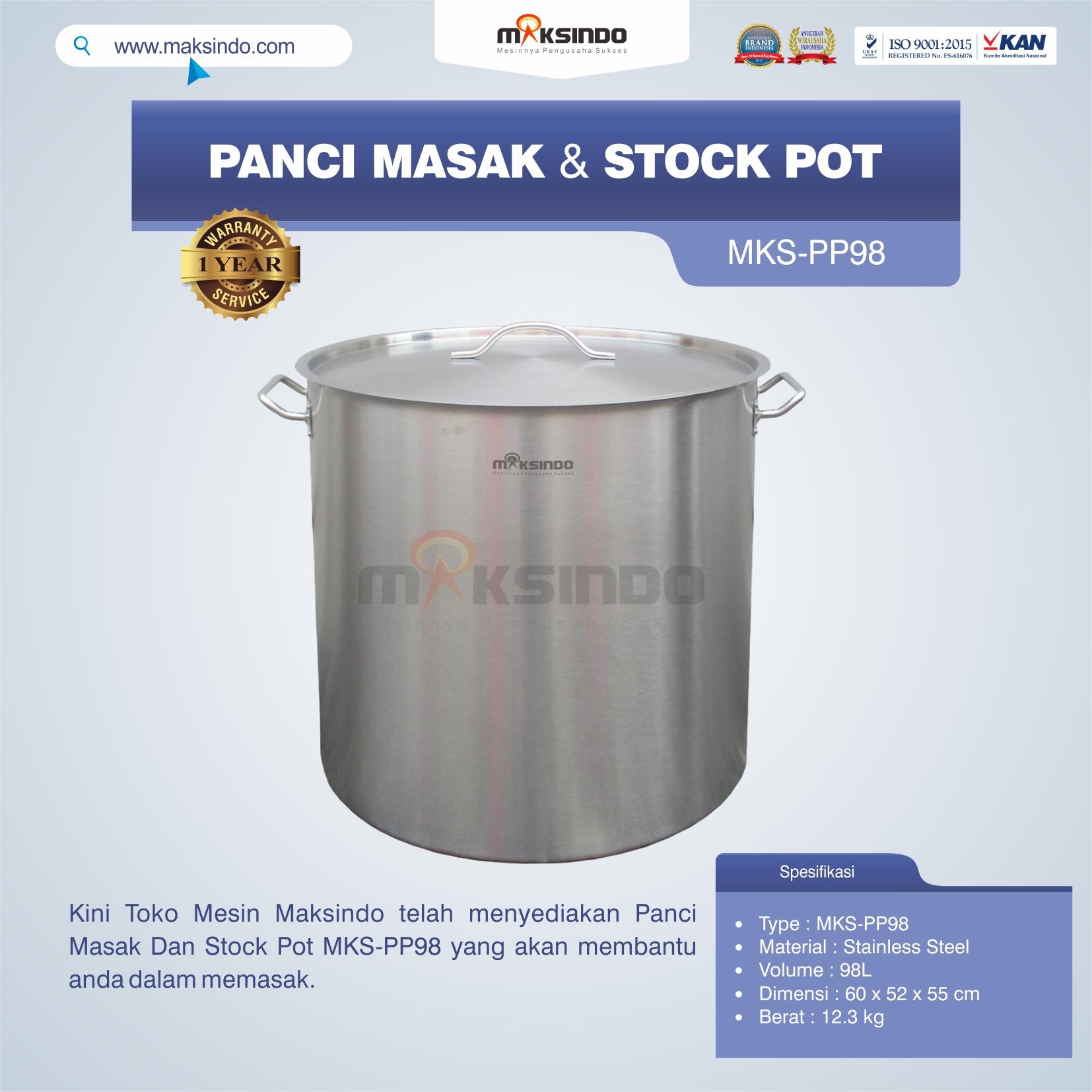 Jual Panci Masak Dan Stock Pot MKS-PP98 di Blitar