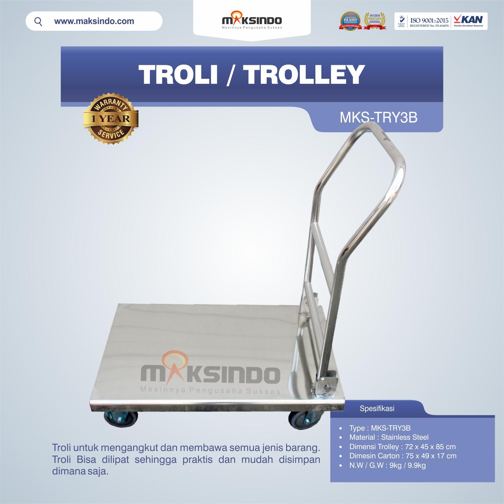 Jual Troli/Trolley MKS-TRY3B di Blitar