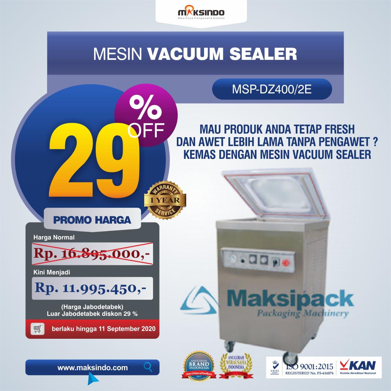 Jual Mesin Vacuum Sealer Type MSP-DZ400/2 E di Blitar
