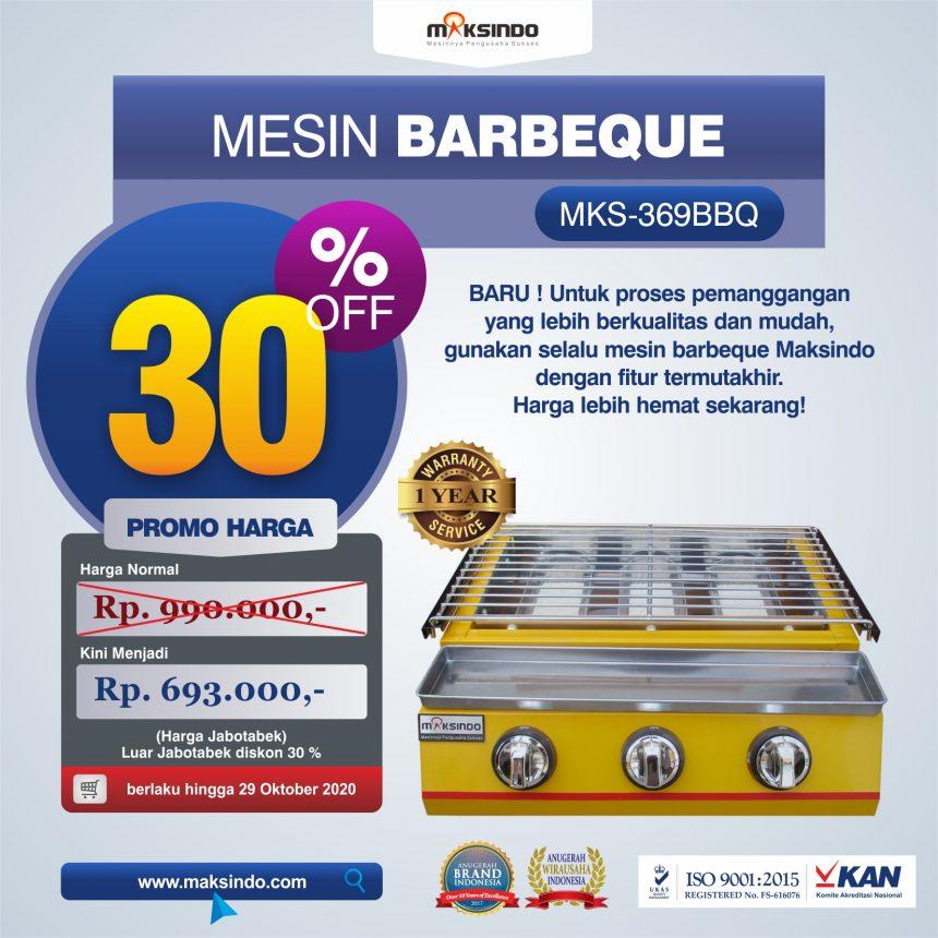 Jual Mesin Pemanggang Sate – BBQ 3 Tungku (Gas) MKS-369BBQ di Blitar