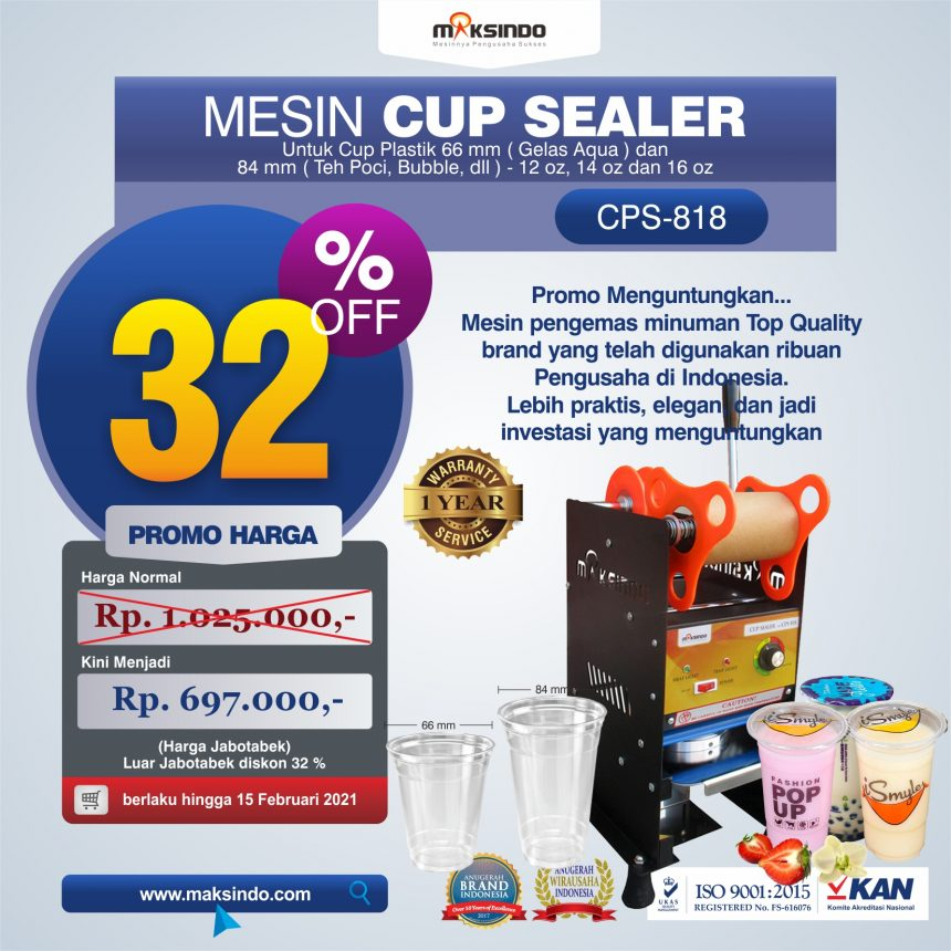 Jual Mesin Cup Sealer Manual NEW CPS-818 di Blitar