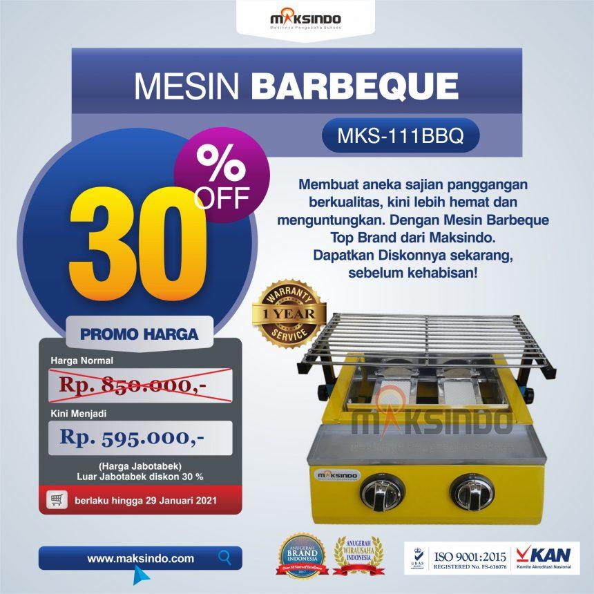 Jual Mesin Pemanggang Sate – BBQ 2 Tungku (Gas) di Blitar