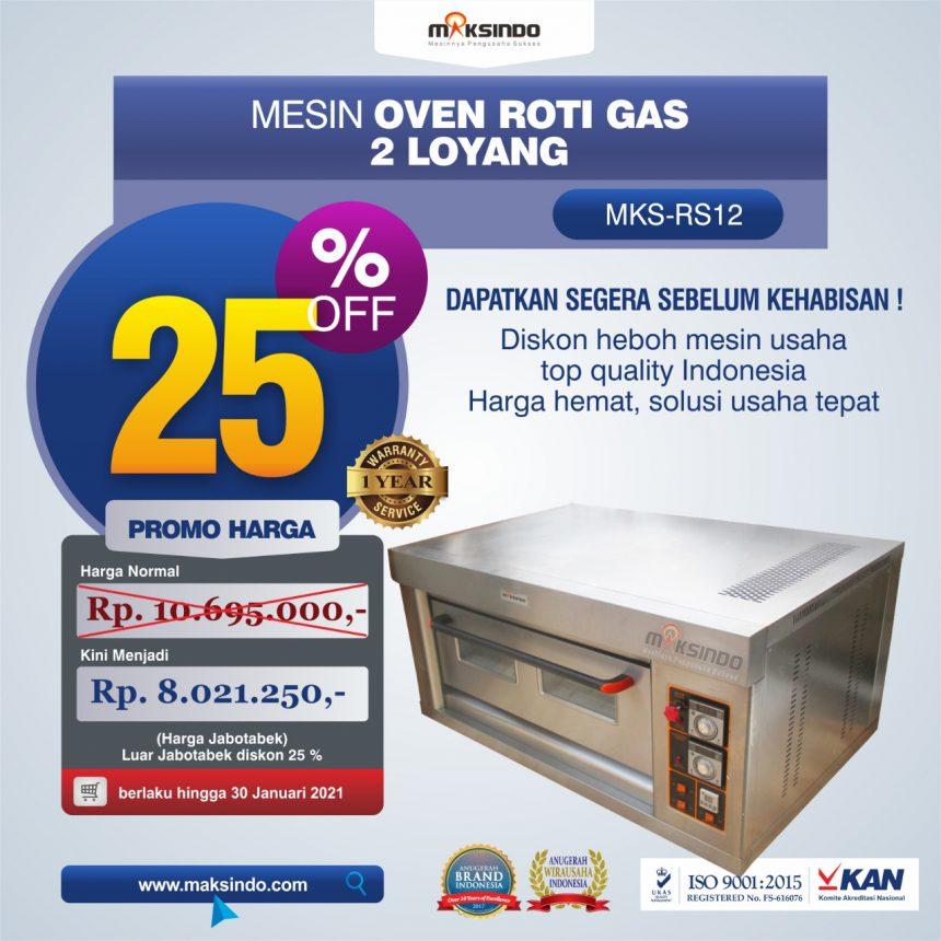 Jual Mesin Oven Roti Gas 2 Loyang (MKS-RS12) di Blitar