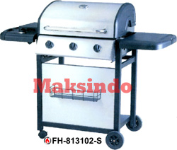 Jual Mesin Barbeku Gas Barbeque With Side Burner di Blitar