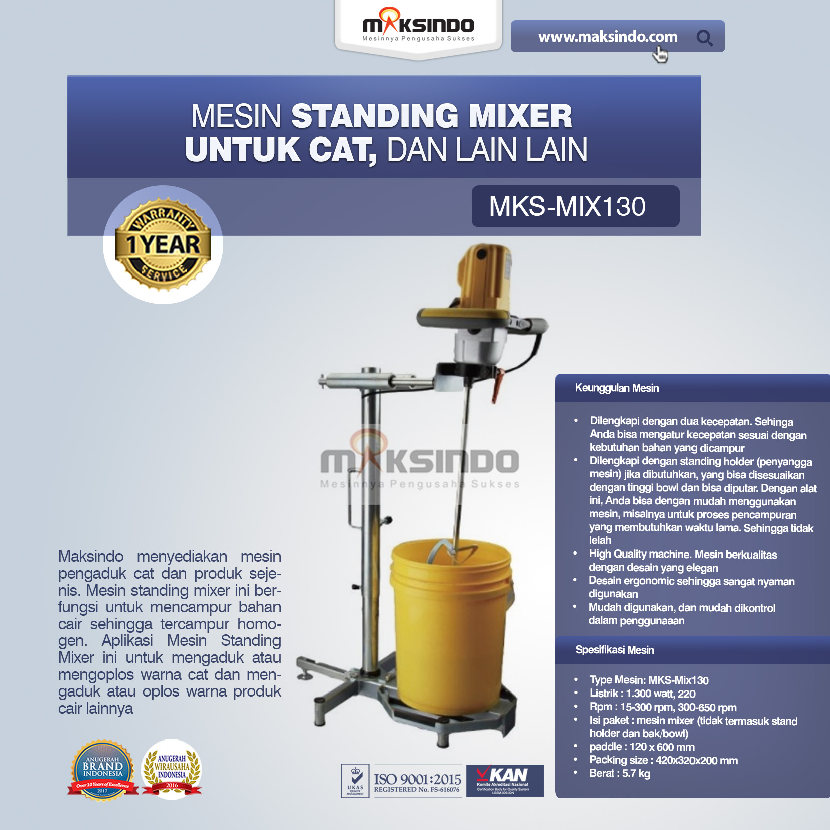 Jual Mesin Standing Mixer Untuk Cat, Dll di Blitar