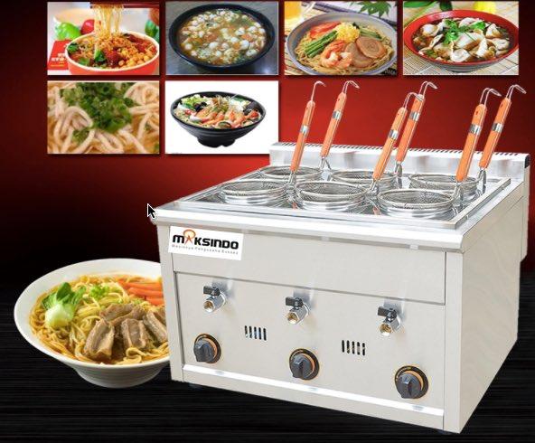 Jual Mesin Pemasak Mie 6 Lubang (Gas, MKS-PC6) di Blitar
